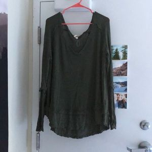Free People olive green hippie sweater/dress